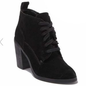 NWT Dolce Vita Seiko Genuine Suede Lace Up Booties